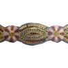 Sequin Trimming Floral 5Yds 5cm Brown/ivory